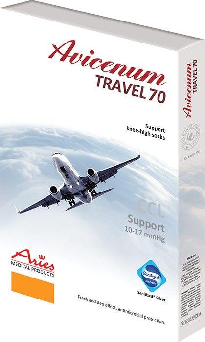 Podkolanówki kompresyjne na zmęczone i opuchnięte nogi (Avicenum 70 Travel)