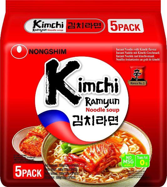 Zupa makaronowa Shin Kimchi Ramyun, ostra 5 x 120g - Nongshim