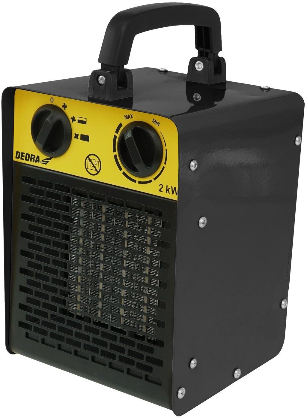 DEDRA Nagrzewnica elektryczna PTC 3,0kW, kwadratowa, czarna ceramiczny element grzejny DED9931C1