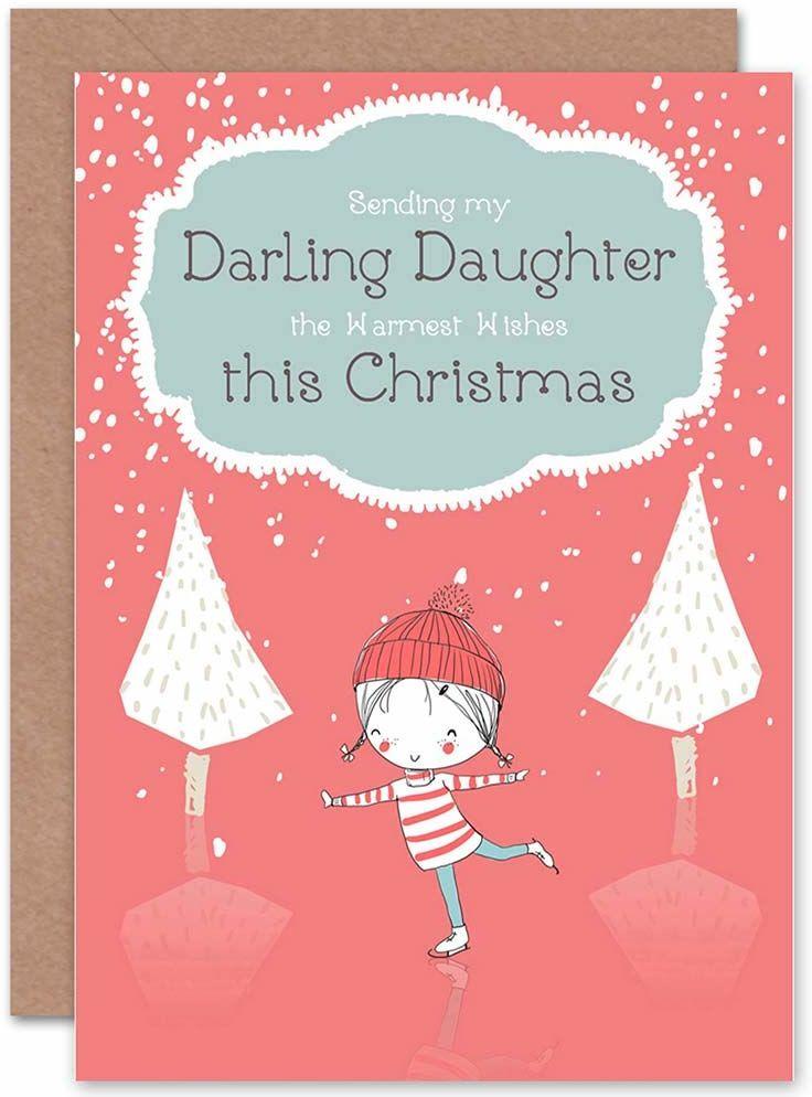 Wee Blue Coo Kartka świąteczna Boże Narodzenie rodzina DauGHTER DARLING