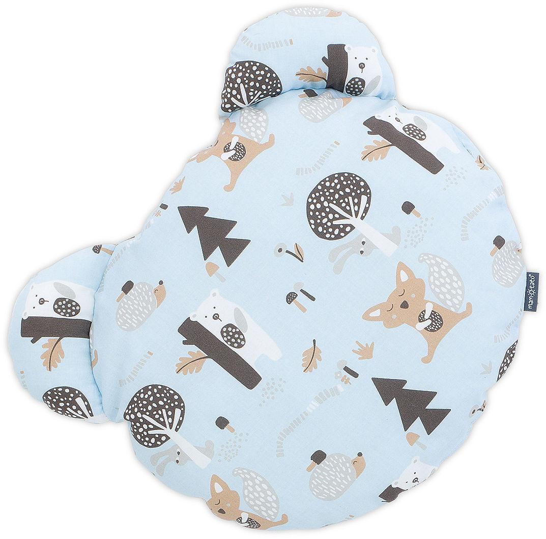 MAMO-TATO Poduszka Miś Bawełna - Zwierzogród błękit