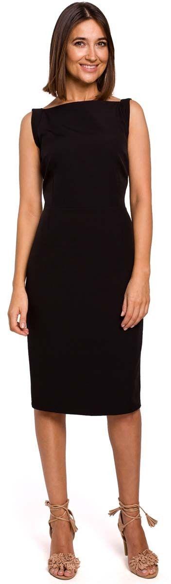 Czarna dopasowana sukienka bez rękawów