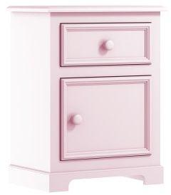 Różowa klasyczna szafka nocna