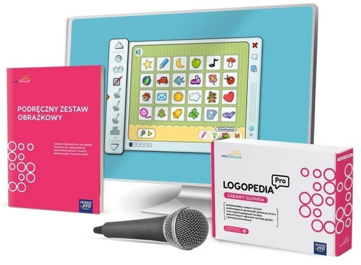 eduSensus Logopedia Pro - Zabawy Słowem + mikrofon & zabawka zegar