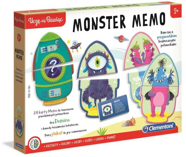 Gra Monster memo 50086 - Clementoni
