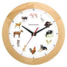 Zegar drewniany z głosami zwierząt solid #2
