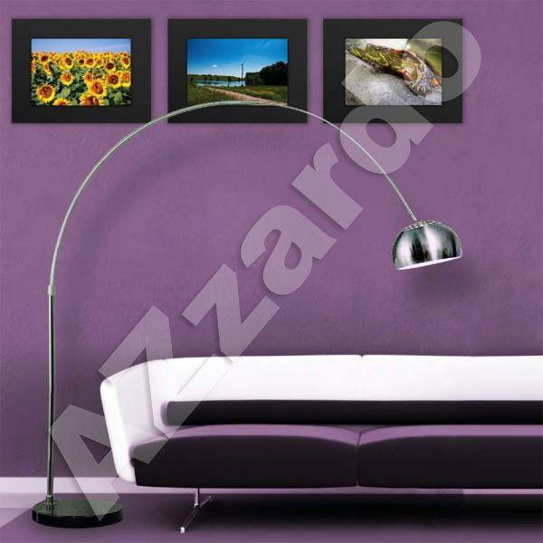 Togo lampa podłogowa 1-punktowa chrom/czarna AZ0021