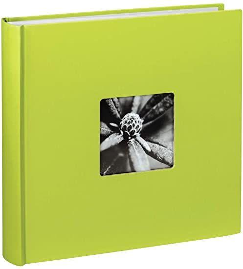 Hama Album fotograficzny Jumbo 30 x 30 cm (książka ze 100 białymi stronami, album na 400 zdjęć do samodzielnego ozdobienia i wklejania), zielony