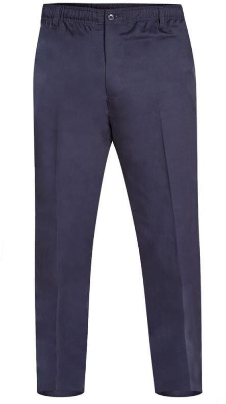 BASILIO-D555 Duże Spodnie Męskie Granatowe