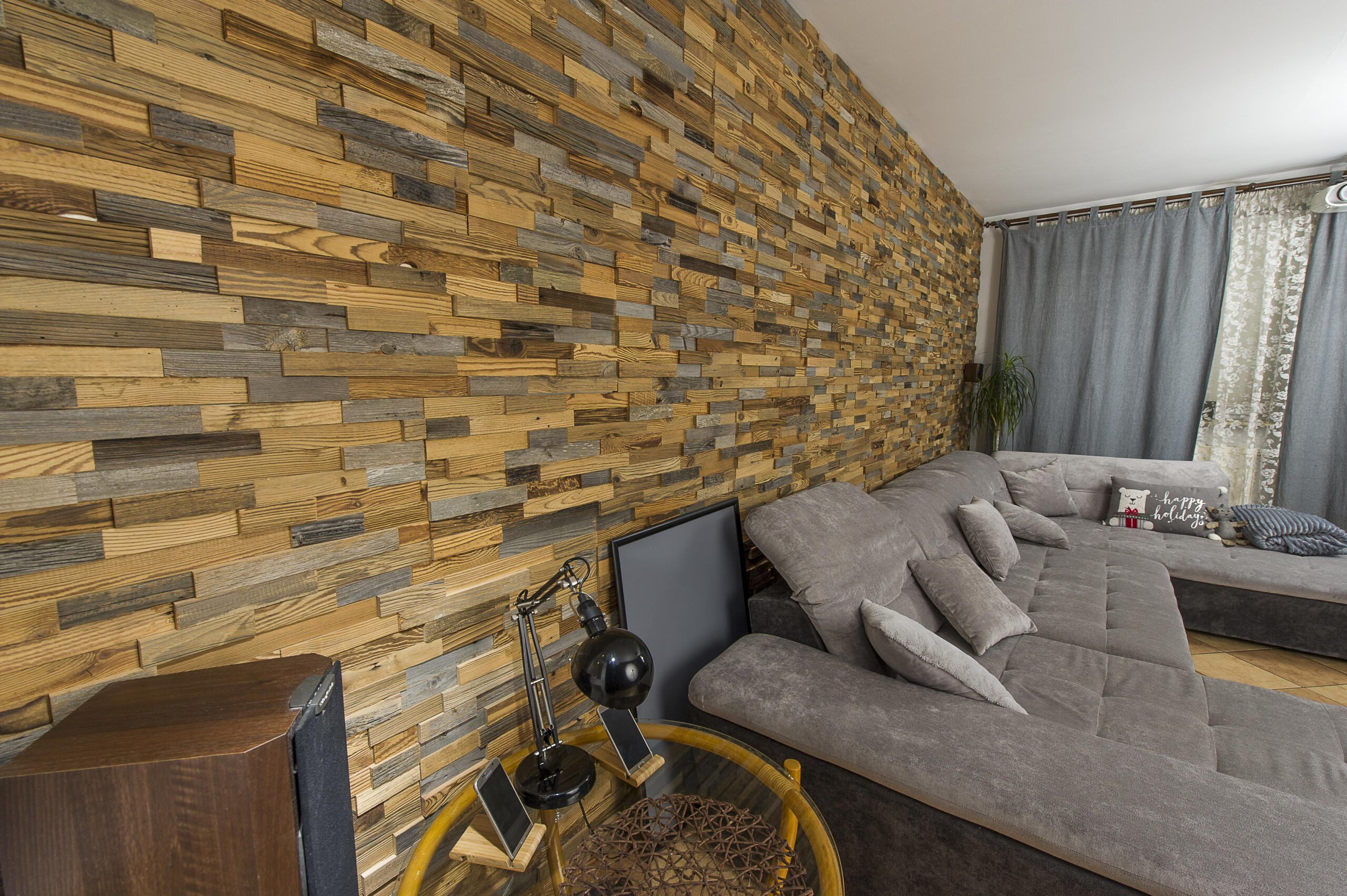 Retro drewno - panele ściana 3D