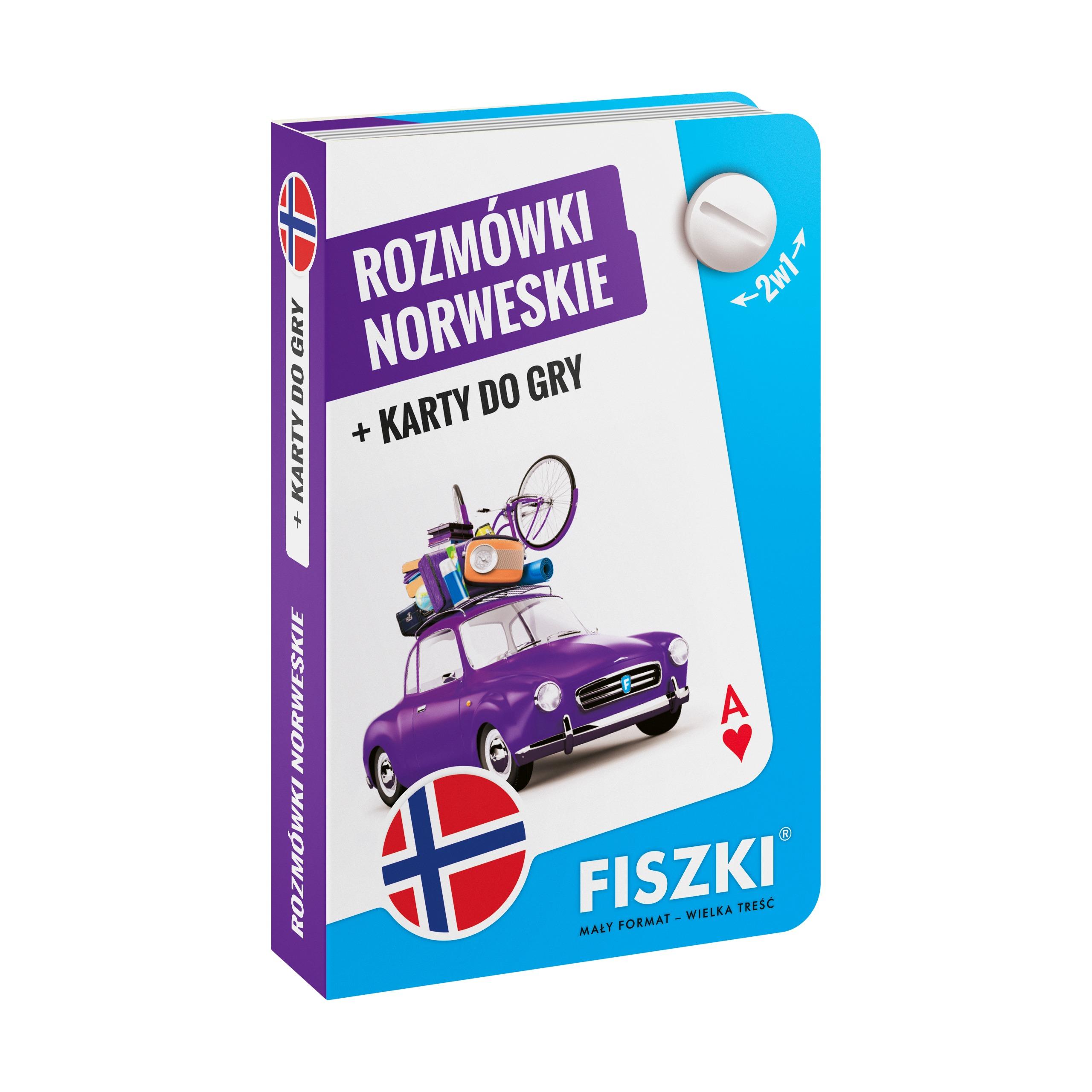 ROZMÓWKI norweskie i karty do gry 2w1