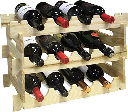 Vin Bouquet FIC 163 modułowy stojak na butelki. Drewniany stojak na butelki na 12 butelek