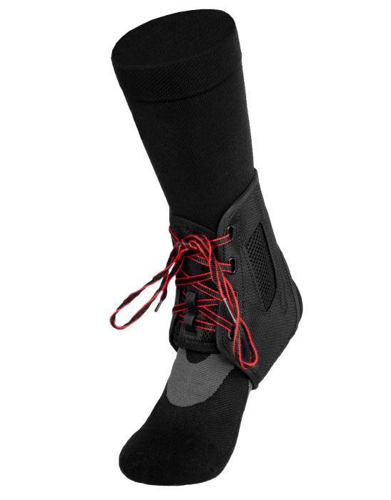 Mueller - Piłkarski stabilizator kostki z dodatkową stabilizacją - do buta sportowego (ATF 3)