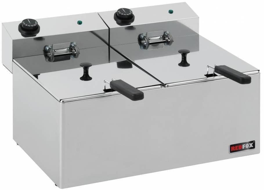 Frytownica elektryczna 2x8L 6000W 540x420x(H)300mm