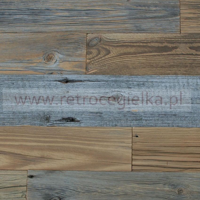 Retro drewno - deski, brzegi równoległe