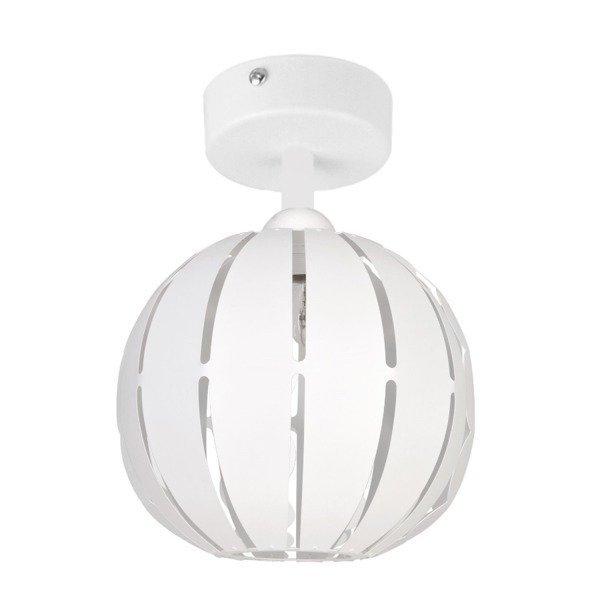 Lampa plafon GLOBUS prosty biały 22cm