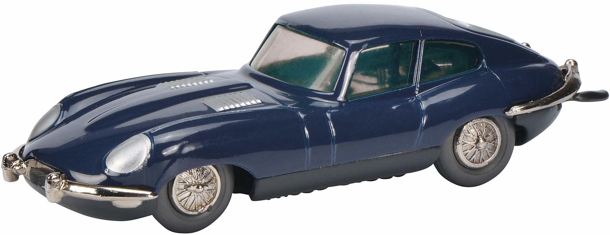 Schuco 450195500 Micro Racer Jaguar model E samochód odlewany ciśnieniowo edycja limitowana ciemnoniebieski