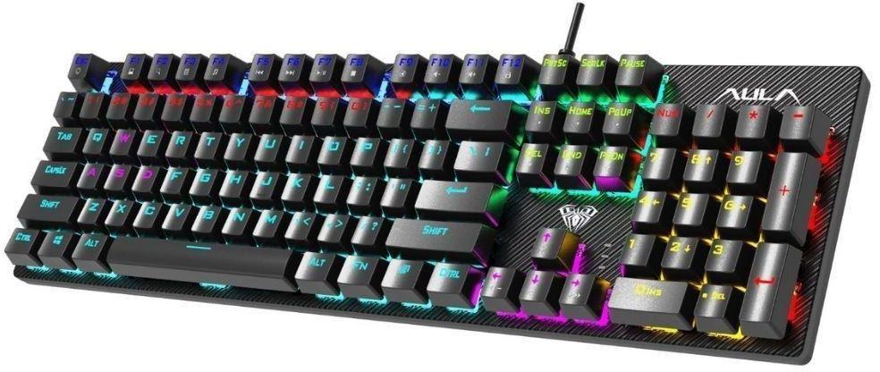 Klawiatura przewodowa dla graczy Aula Retribution Gaming mechaniczna, podświetlana, BLUE SWITCH