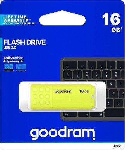 Pamięć pendrive USB 2.0 16GB UME2 żółty Goodram
