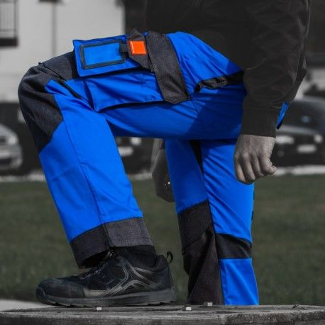 Spodnie robocze 245 g/m2 R54 WZMOCNIONE NIEBIESKO-CZARNE Doktorvolt 2117