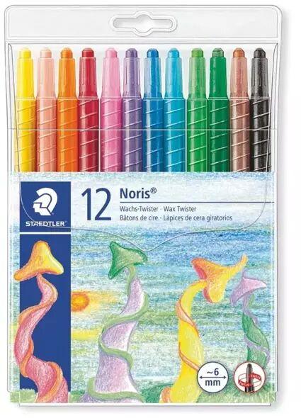 Kredki wykręcane - Twistery woskowe 12 kolorów - Staedtler