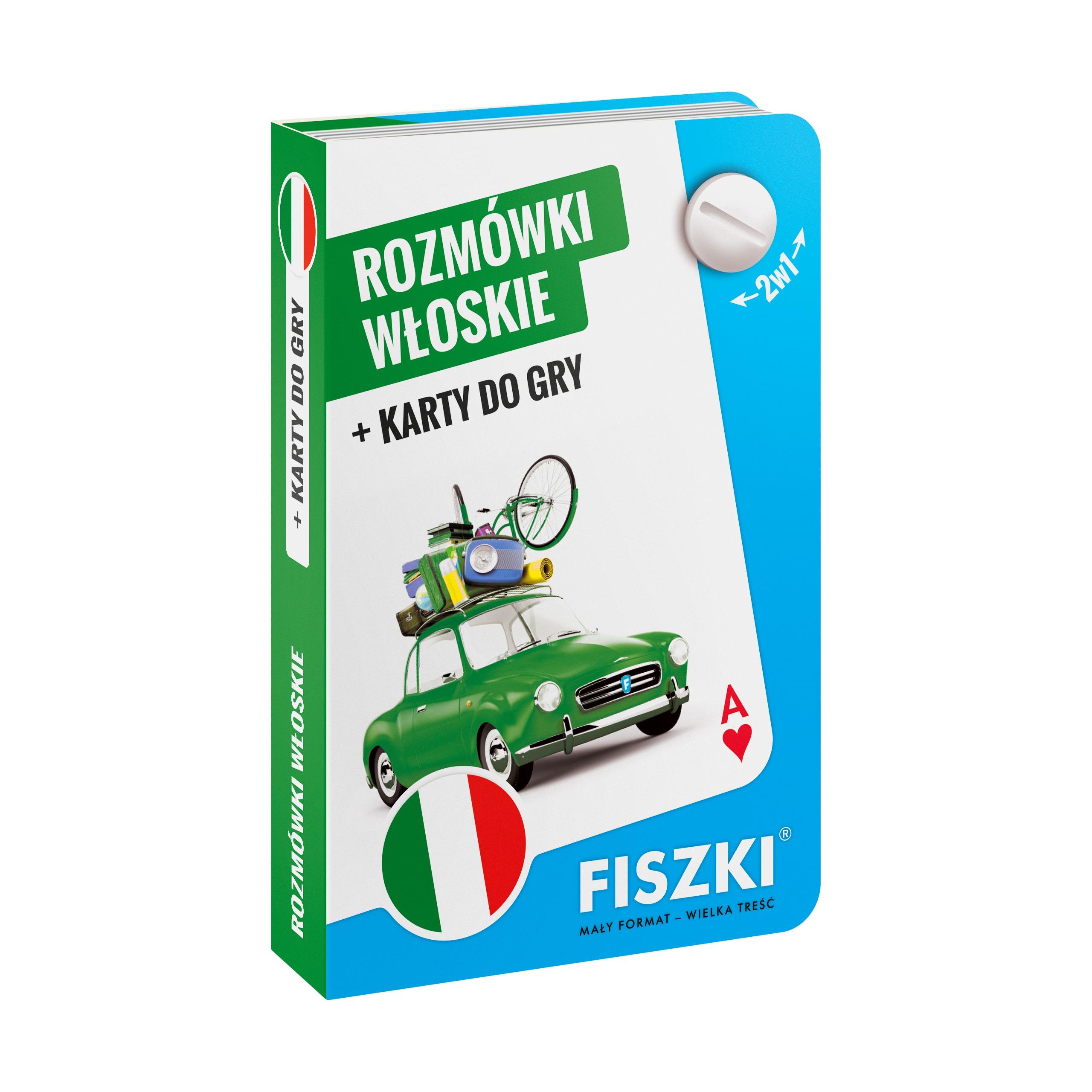 ROZMÓWKI włoskie i karty do gry 2w1