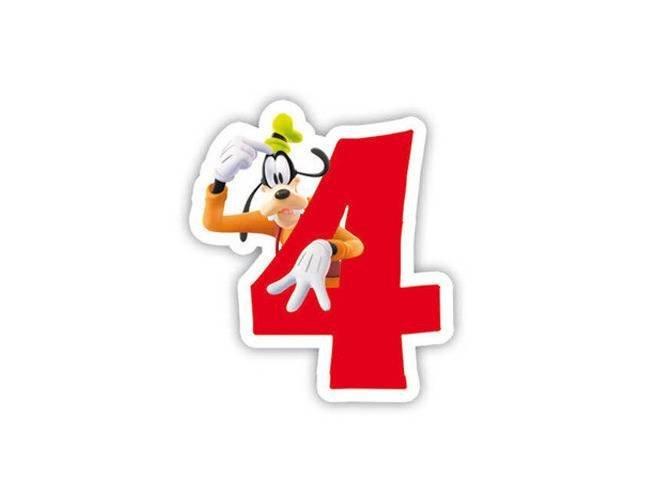 """Świeczka cyferka czwórka """"4"""" Myszka Mickey - 1 szt."""