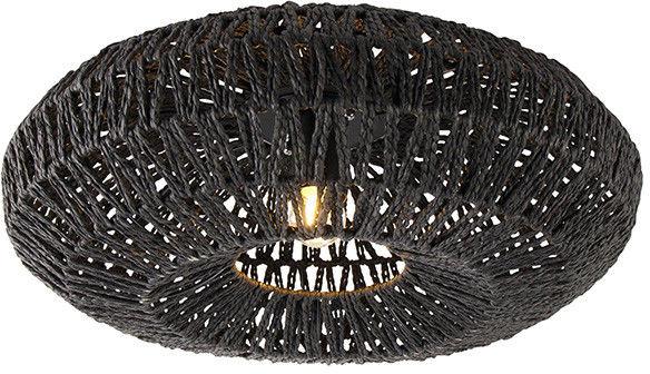 QAZQA Retro plafon czarny 50cm - Lina