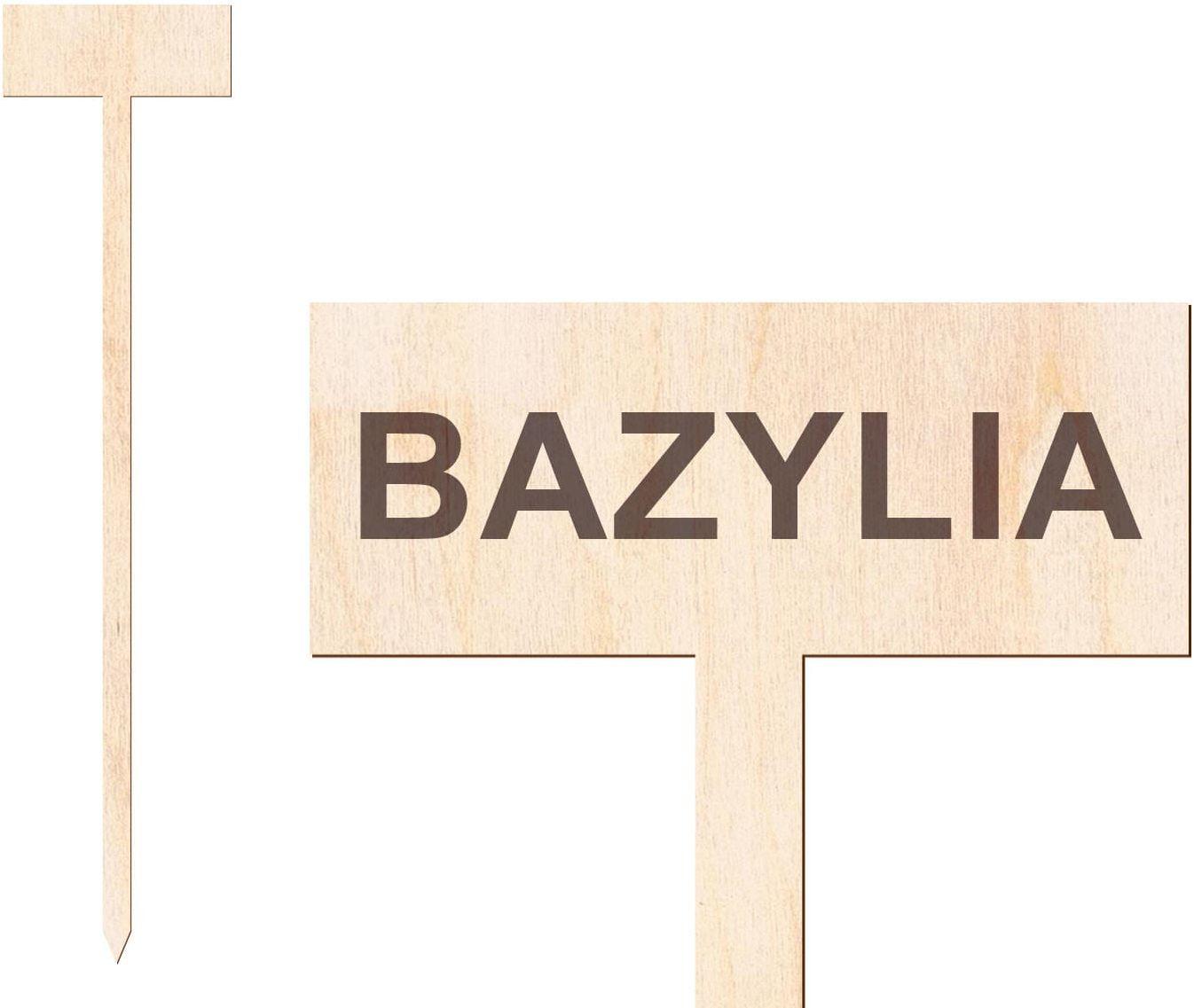 Tabliczka do oznaczania roślin Bazylia - 1 szt.
