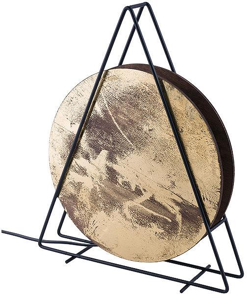 Lampa stołowa Wheel 9032 Nowodvorski Lighting okrągła złota oprawa w stylu design