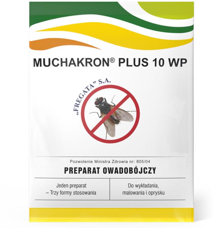 Muchakron Plus 10 WP 125g. Oprysk, trutka, preparat na muchy.