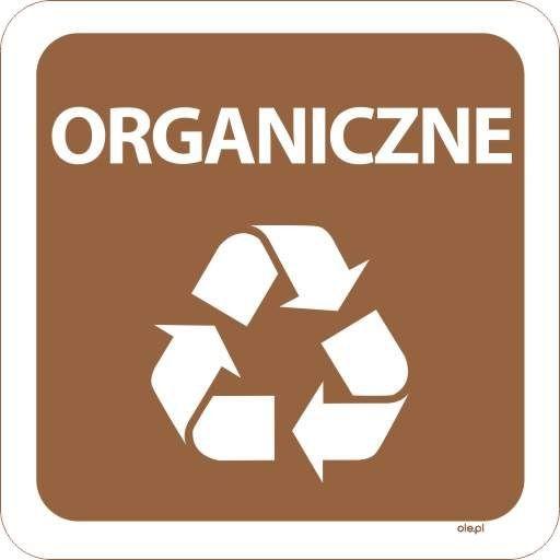 Naklejka na kosz do segregacji śmieci Organiczne kwadratowa