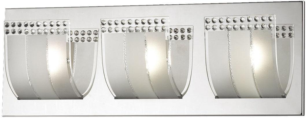Italux kinkiet lampa ścienna chrom Roto W29386-3A chrom szkło 45cm