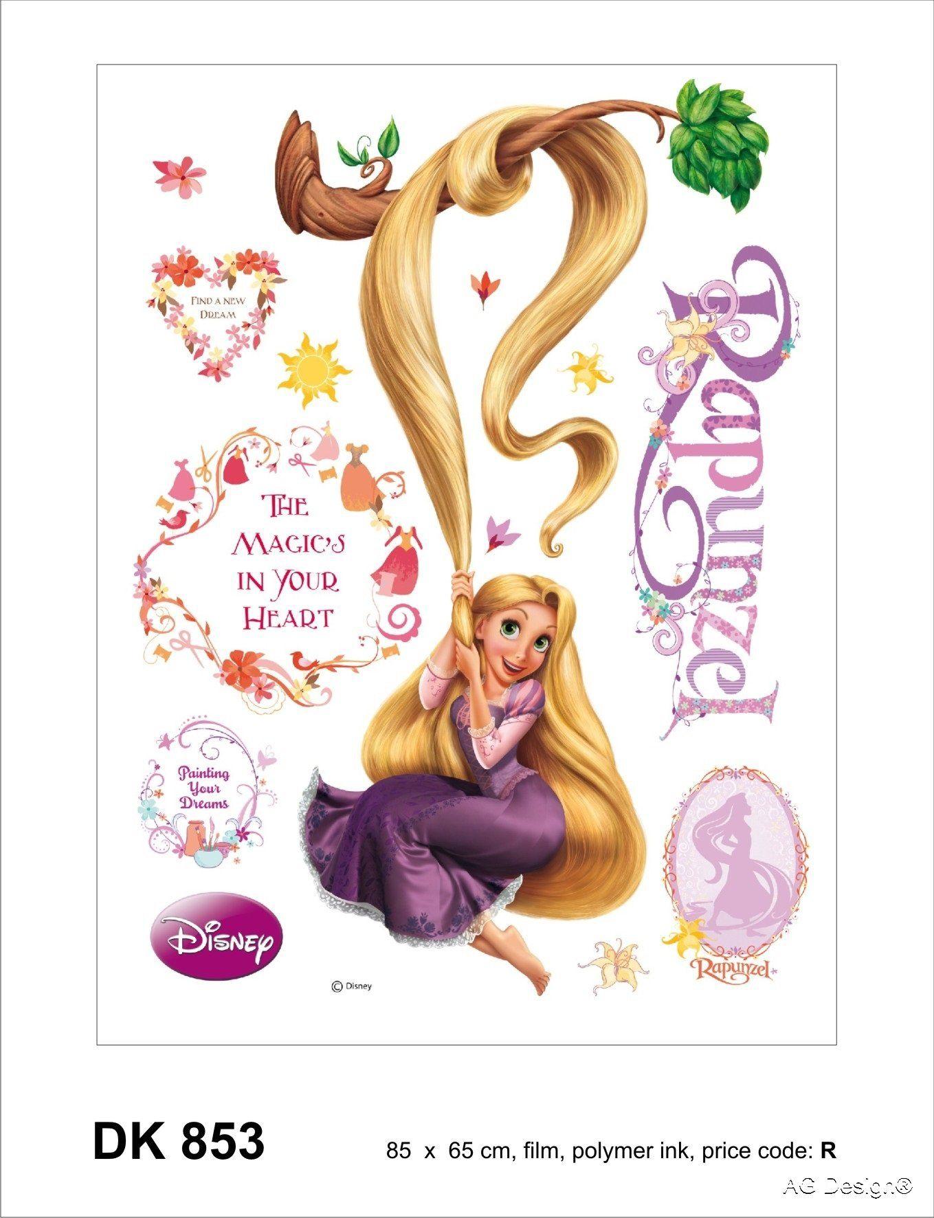 Naklejka ścienna DK 853 Disney Rapunzel