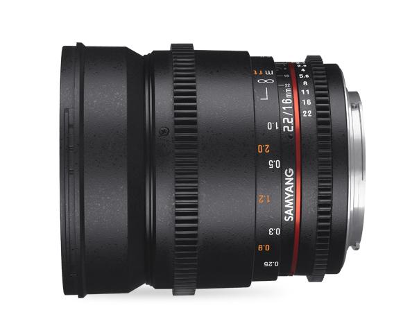 Samyang 16mm T2.2 VDSLR ED AS UMC CS II - obiektyw stałoogniskowy, Nikon F Samyang 16mm T2.2 VDSLR ED AS UMC CS II