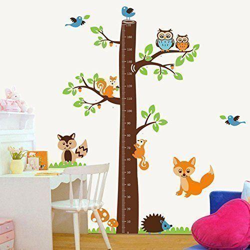 Walplus Naklejka ścienna rodzina dekoracja ścienna papier sztuka dekoracja lis drzewo pomiar ciała