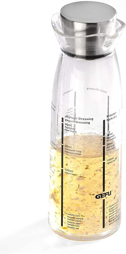 Gefu 14490 shaker do dressingów Mixo, przezroczysty
