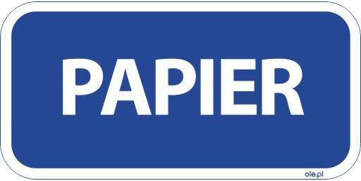 Naklejka na kosz do segregacji śmieci Papier prostokątna