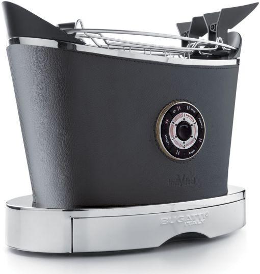 Casa Bugatti VOLO INDIVIDUAL Toster - Leather (Skórzany) Szary