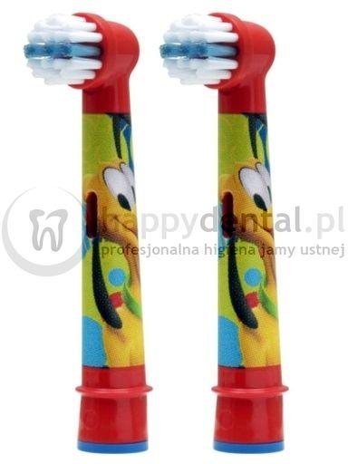 BRAUN Oral-B Stages Power 2szt. EB10-2 - końcówki do szczoteczki elektrycznej dla dzieci - wersja MYSZKA MIKI