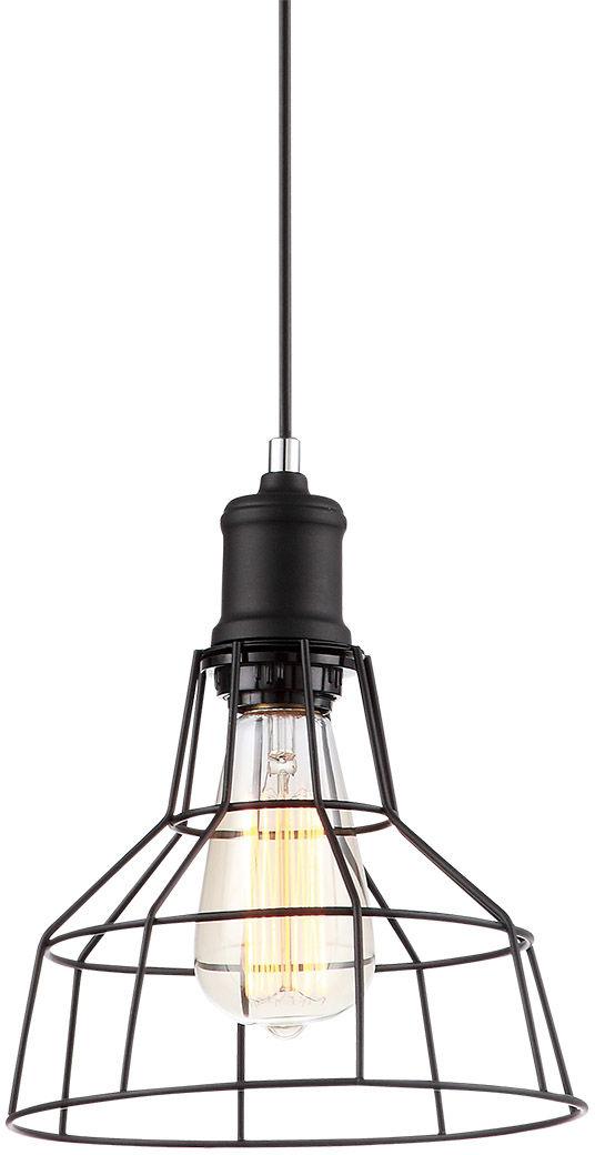 Italux lampa wisząca Synthia MDM2264-1 czarna druciana 20cm