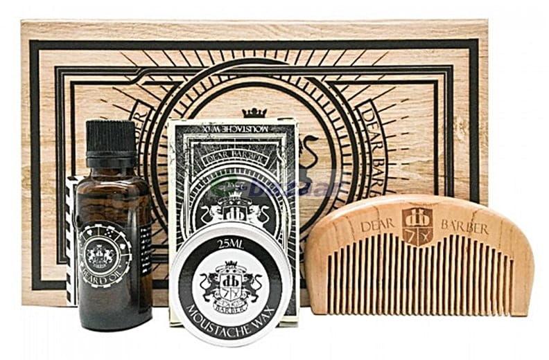 Dear Barber zestaw do brody i wąsów - olejek wosk grzebień