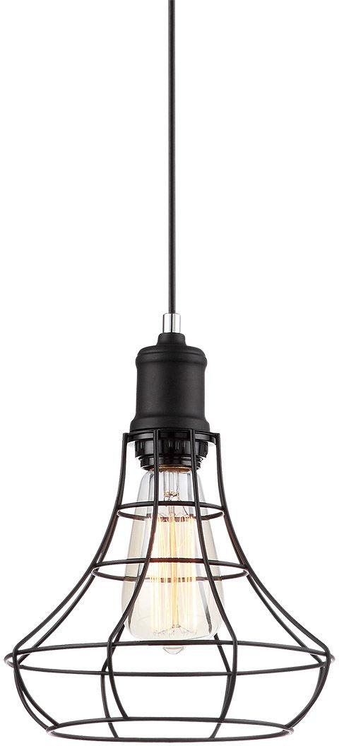 Italux lampa wisząca Synthia MDM2268-1 czarna druciana 21cm