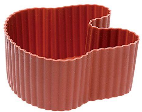 Rosenthal - Sambonet - 6 foremek do babeczek, muffinek - silikon - czerwony - zając, królik, zajączek wielkanocny - 6 x 6 cm