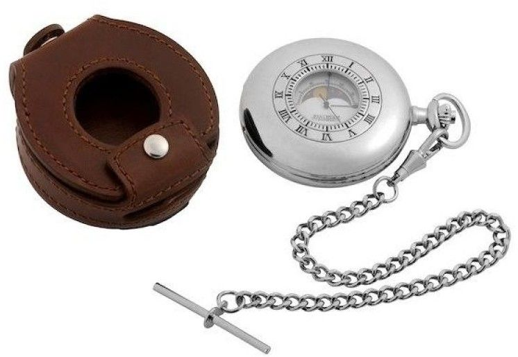 Zegarek męski Jean Pierre Moonphase Half Hunter Pocket JP-D6