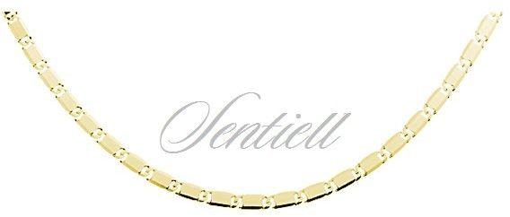 Łańcuszek srebrny 925 snail lrde złocony