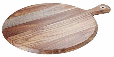 Cosy & Trendy 3849593 okrągła drewniana deska do chleba 38 x 30 x 1,5 cm