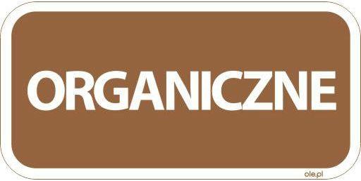 Naklejka na kosz do segregacji śmieci Organiczne prostokątna