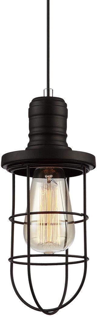 Italux lampa wisząca Synthia MDM2273-1 czarna druciana 12cm