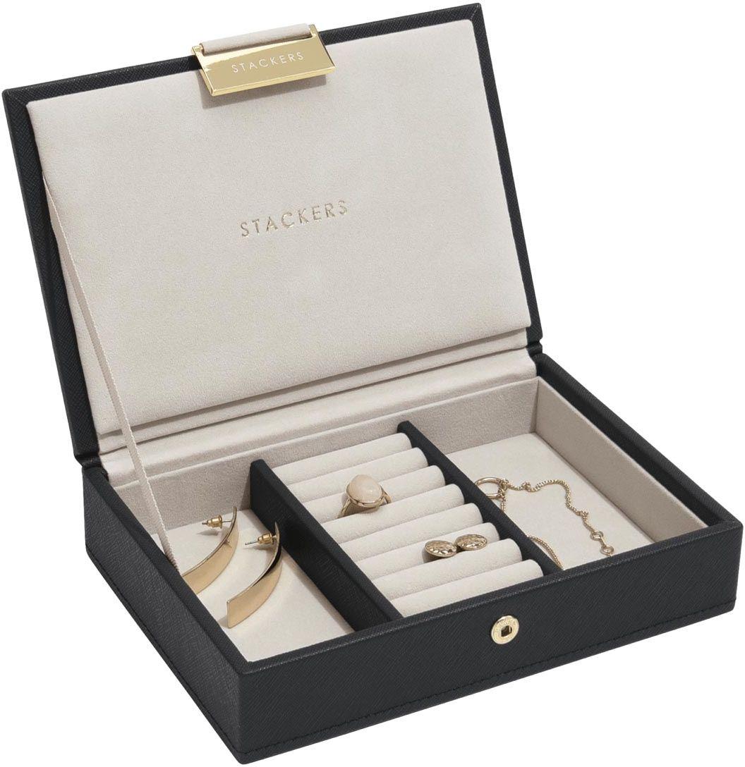 Pudełko na biżuterię z pokrywką (czarne) Mini Classic Stackers